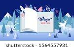 winter wonderland  book fair... | Shutterstock .eps vector #1564557931