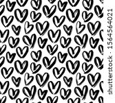 Hearts Black And White Vector...