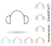 headphones multi color icon....