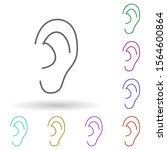 an ear multi color icon. simple ...