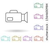 camcorder multi color icon....