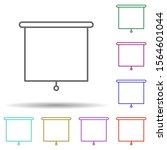 school boards multi color icon. ...