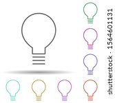 bulb multi color icon. simple...