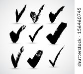 set of hand drawn check | Shutterstock .eps vector #156460745