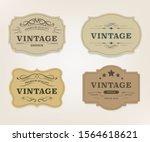 vintage label banner badges set.... | Shutterstock .eps vector #1564618621