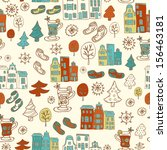 winter holiday seamless pattern ... | Shutterstock .eps vector #156463181