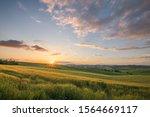 Sunset Landscapes Over The...