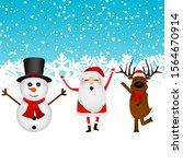 cartoon funny santa claus ... | Shutterstock .eps vector #1564670914