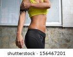 beautiful young woman posing in ... | Shutterstock . vector #156467201
