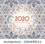 happy new 2020 year  ethnic... | Shutterstock .eps vector #1564698211