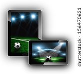 staduium lights on tablet pc | Shutterstock . vector #156470621