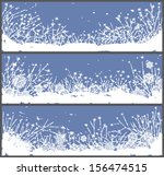 set of 3 winter banners with...