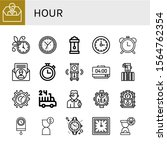 set of hour icons. such as... | Shutterstock .eps vector #1564762354