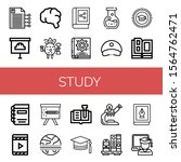 set of study icons. such as... | Shutterstock .eps vector #1564762471