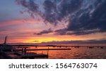 Sunset over lake Mendota, WI.