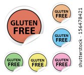 gluten free colorful stickers ... | Shutterstock . vector #156478421