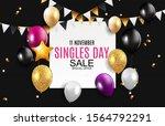 november 11 singles day sale...   Shutterstock . vector #1564792291