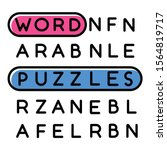word puzzle color icon. mental... | Shutterstock .eps vector #1564819717