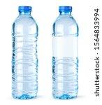vector bottles of water on... | Shutterstock .eps vector #1564833994