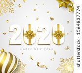 happy new year greeting card ... | Shutterstock .eps vector #1564837774