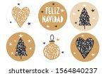 feliz navidad   merry christmas.... | Shutterstock .eps vector #1564840237