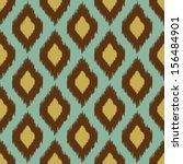 modern tribal ikat blue yellow...   Shutterstock .eps vector #156484901