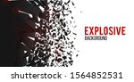 wall explosion fragment. cloud... | Shutterstock .eps vector #1564852531