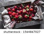 Fresh Strawberries In The Box...