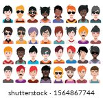 collection of avatars    man...   Shutterstock .eps vector #1564867744