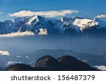 mountain top in winter  bucegi... | Shutterstock . vector #156487379