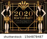 2020 New Year Gatsby Art Deco...