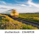 train speeding through irish... | Shutterstock . vector #15648928
