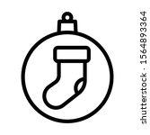 christmas ball with sock icon...