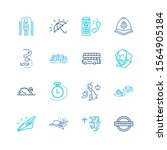 united kingdom icon set and... | Shutterstock .eps vector #1564905184