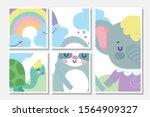 baby shower cards cute elephant ...   Shutterstock .eps vector #1564909327
