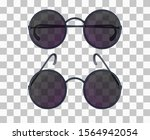 set of realistic glasses with...   Shutterstock .eps vector #1564942054