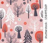 winter forest seamless pattern | Shutterstock .eps vector #156495269