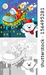 the coloring christmas page... | Shutterstock . vector #156495281