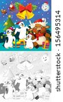 the coloring christmas page... | Shutterstock . vector #156495314