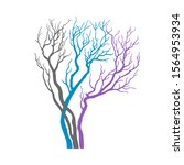 christmas tree vector... | Shutterstock . vector #1564953934