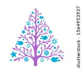 christmas tree vector... | Shutterstock . vector #1564953937