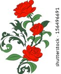 red roses | Shutterstock .eps vector #156496691