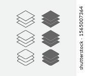 layer icon. canvas icon. symbol ...