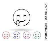 playful smile multi color icon. ...