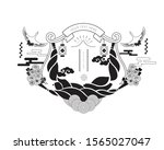 chinese new year symbol...   Shutterstock .eps vector #1565027047