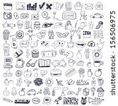set of hand drawn symbols | Shutterstock .eps vector #156506975