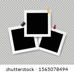 retro realistic photo frame... | Shutterstock .eps vector #1565078494