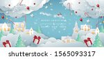 merry christmas composition in... | Shutterstock .eps vector #1565093317