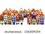 the painted wooden models of... | Shutterstock . vector #156509354