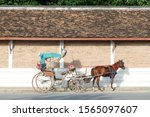 Horse Carriage And Tricycle In...